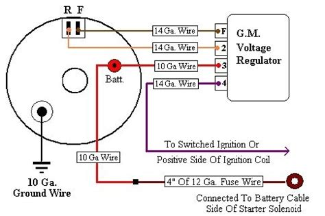 3 Wire Delco Alternator With Regulator Wiring Diagram by 4 Wire Alternator Wiring Diagram Wiring Diagram And Fuse