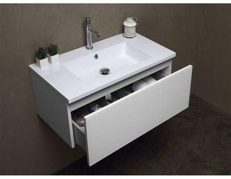 Bagno Lavabo Mobile Bagno Con Lavello In Resina Cm 81