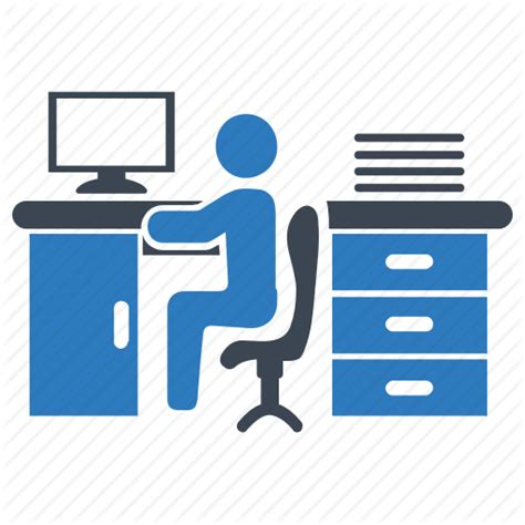 Office Desk Icon by Desk Office Working Workplace Icon