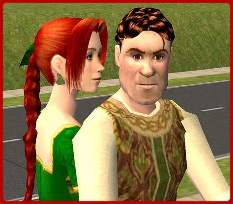 mod the sims shrek and fiona human form from shrek2