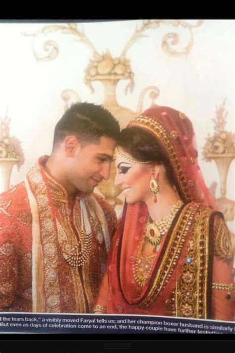 boxer amir khan  faryal makhdooms wedding pictures reviewitpk