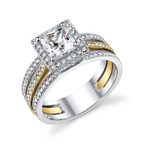 yellow gold wedding bands yellow gold princess cut wedding ring ipunya