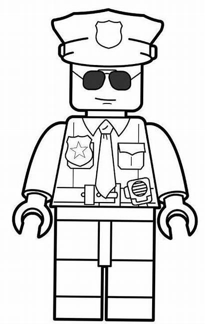 Lego Coloring Police Kleurplaat Officer Printable Politie