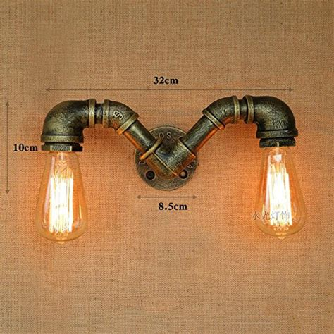 cgjdzmd wall sconce vintage industrial retro double heads