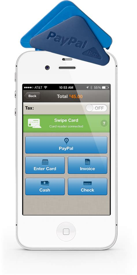 credit card reader for iphone paypal here credit card reader point of and mobile