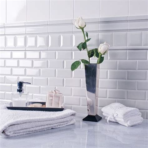 ceramic white 3 x 6 adex hton crackle beveled wall