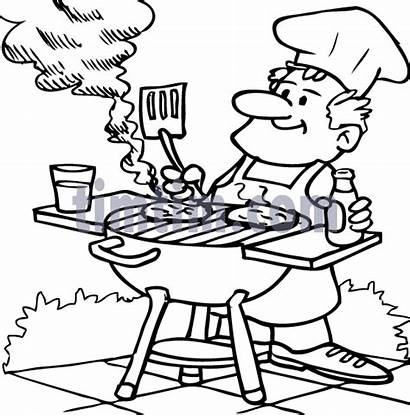 Coloring Pages Dad Bar Bbq Drawing Timtim
