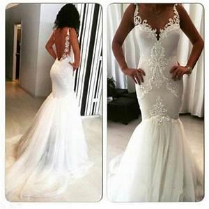 sexy mermaid wedding dresses 2016 white real image garden With mermaid wedding dresses 2016