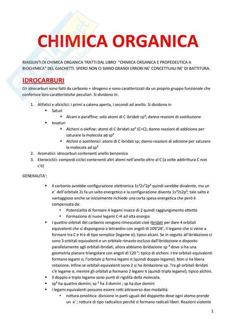 chimica organica dispense chimica nomenclatura dispense