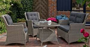 Dreams4home lounge set quotoxfordquot 4 teilig loungesessel for Französischer balkon mit rattan essgruppe garten