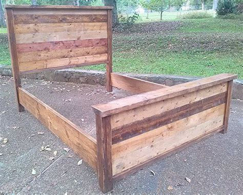 reclaimed rustic bed frame   shipping
