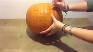 Comment Faire Une Citrouille Pour Halloween : faire une citrouille d 39 halloween pr parer une lanterne d 39 halloween youtube ~ Voncanada.com Idées de Décoration