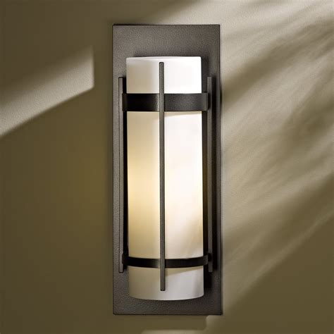 led wall sconce outdoor hubbardton forge 305894 10 large banded led outdoor wall