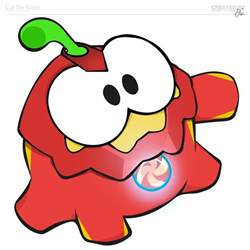 Om Nom Cut the Rope Coloring Pages