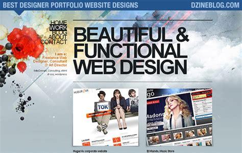 graphic design portfolio websites 32 amazing graphic designer s portfolio dzineblog