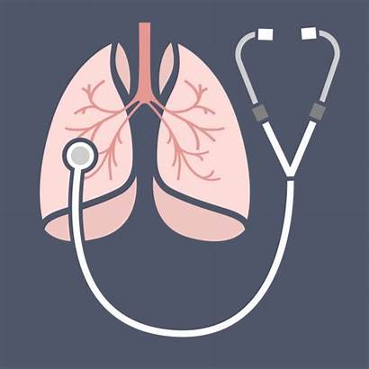 Respiratory Lungs System Vector Lung Stethoscope Icon
