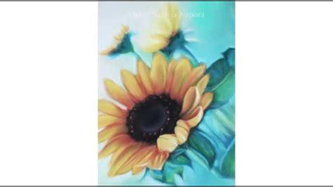 sylwia napora pastellmalerei sonnenblumen mit