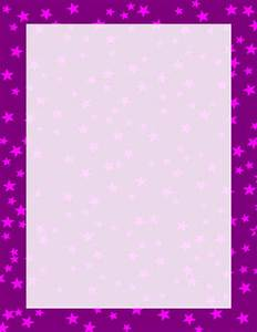 Purple and Pink Stars Border | Free Borders And Clip Art.com