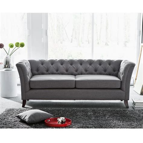 canape chesterfield tissu canapé chesterfield tissu gris the déco