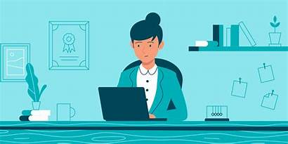 Flat Character Insurance Working Behance Animation Term