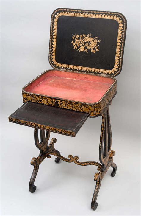 sewing table for sale a good regency pen work sewing table for sale at 1stdibs