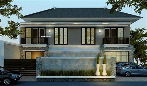 desain rumah minimalis melebar  samping desain