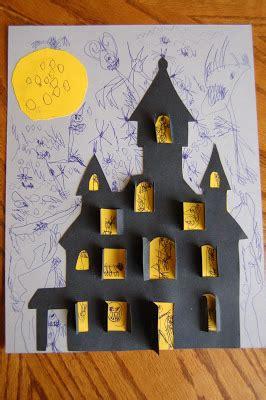 preschool crafts  kids halloween haunted house printable