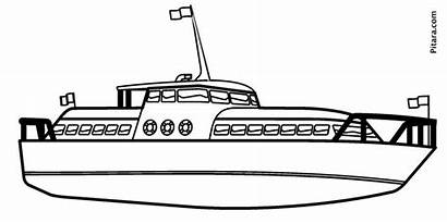 Yacht Water Coloring Transportation Pages Pitara Boat