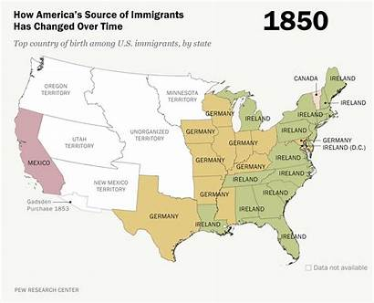 Immigration America Interactive Law Map Change 1850