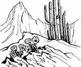 Desert Drawing Scene Coloring Scenes Sketch Template Manna Getdrawings Clean sketch template