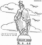 Statue Coloring Pages Colorings Rome Print sketch template
