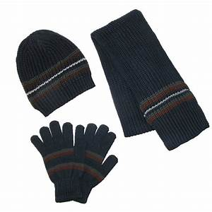 Mens Knit Hat Gloves And Scarf Winter Set By Ctm