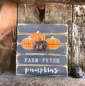 Farm, Fresh, Pumpkins, Wood, Sign