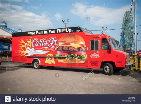 A Carl's Jr. promotional food truck in Coney Island in ...