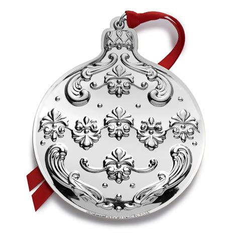 gorham chantilly 2016 gorham silver christmas ornament