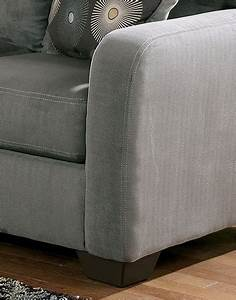 2 piece zella charcoal sectional w right facing chaise by for Zella sectional sofa chaise