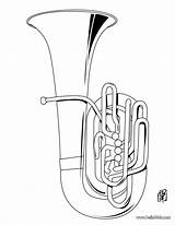 Coloring Tuba Musical Sheets Instruments Pages Instrument Brass Drawing Colouring Collage Names Musique Dessin Artist Activities Printable Hellokids Des Books sketch template