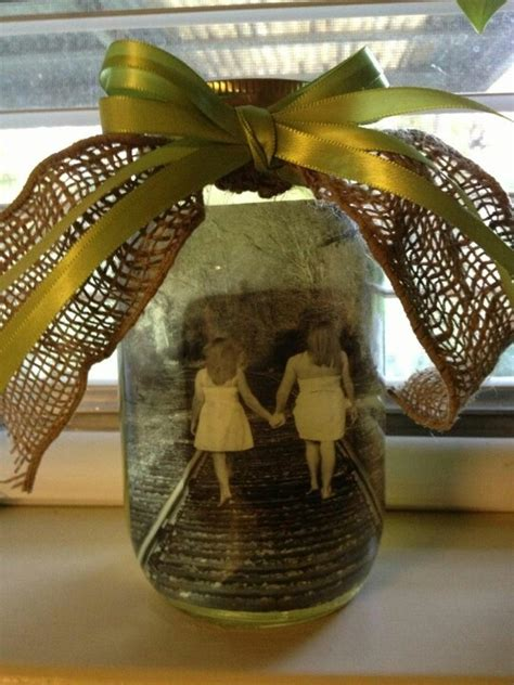 mothers day gift mason jar picture frame