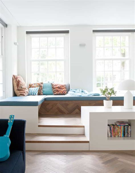 corner window seat  steps  bookcase create