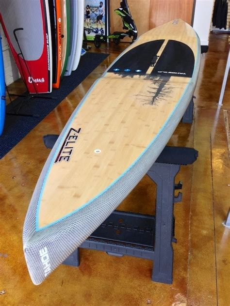 tahoe sup z elite race board 12 6 quot new lightweight bamboo deck designed for touring and