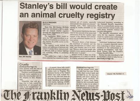 animal cruelty registry bill