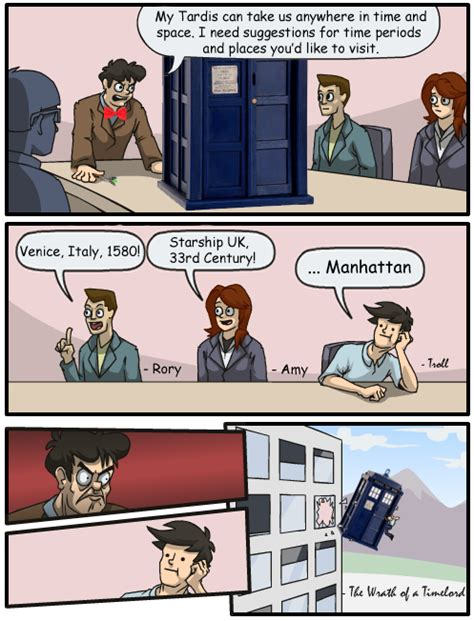 Office Window Meme - the wrath of a timelord boardroom suggestion know your meme