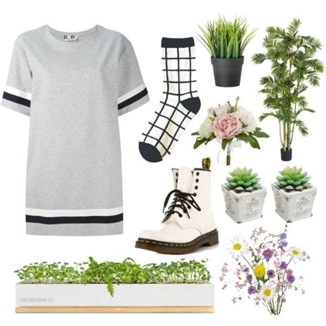 Plant hoe aesthetic by grunge-outfits on Polyvore featuring MSGM Dr. Martens Bambeco and Pier ...
