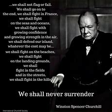Grammar Check! Churchill's Speech, Or Shall I Or Will I Use The Right Auxiliary Verb? The