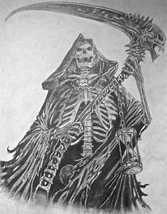 Realistic Drawings Grim Reaper - DRAWING ART IDEAS