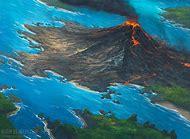 Volcanic Island Art