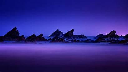 Night Taiwan Rocks Mountains 4k Fog Uhd