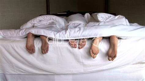 family feet  bed royalty  video  stock footage