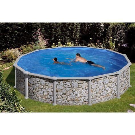 pool kaufen ebay summer stahlwand pool set stein dekor aufstellbecken 216 350 cm x 120 cm kaufen bei obi