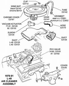 1978-81 L48 Air Cleaner Assembly - Diagram View